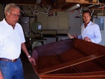 Pierre Cayard and his son, America's Cup veteran Paul Cayard with his El Toro dinghy